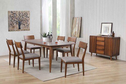 Mid-Century Dining Collection - eight-piece dining set - dining room setting DLU-MC4278-C45-SR8P
