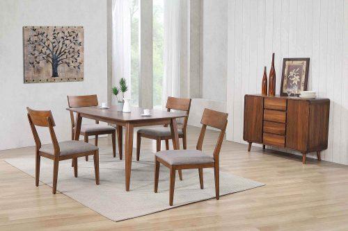 Mid-Century Dining Collection - six-piece dining set - dining room setting DLU-MC3660-C45-SR6P