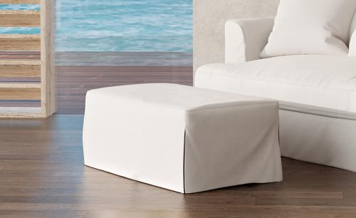Newport Slipcovered Collection - Ottoman - living room setting SY-130030-391081