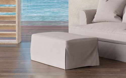 Newport Slipcovered Collection - Ottoman - living room setting SY-130030-391094