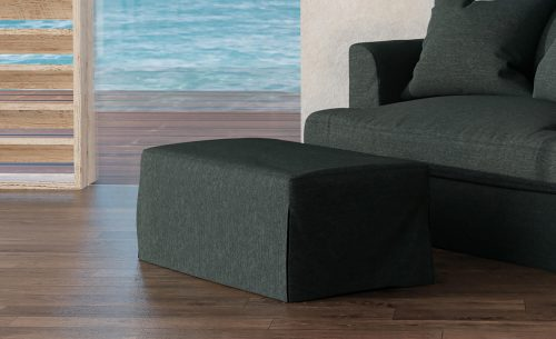 Newport Slipcovered Collection - Ottoman - living room setting SY-130030-391098