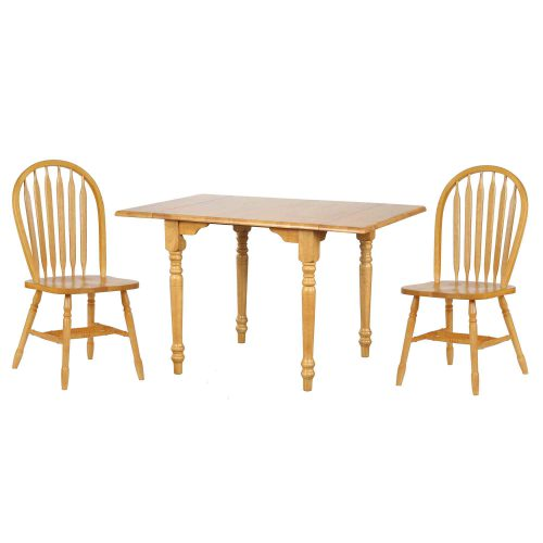Oak Selections - 3-piece dining set - butterfly table with two Arrow-back chairs in a light-oak finish DLU-TLD3448-820-LO3PC