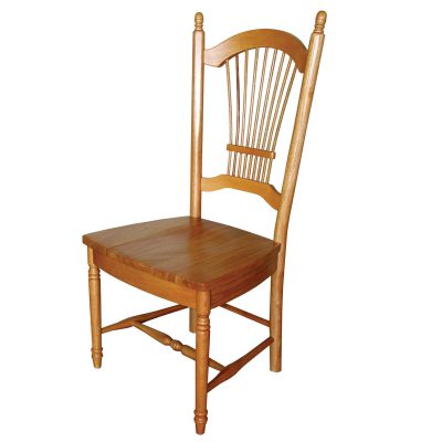Oak Selections - Allenridge dining chair - Light-oak finish - front view DLU-C07-LO-2