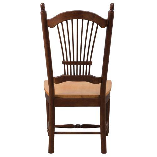 Oak Selections - Allenridge dining chair - Nutmeg finish with light-oak seat - back view DLU-C07-NLO-2