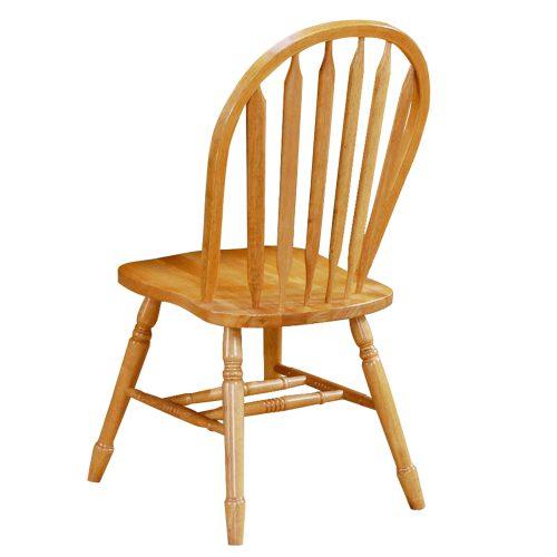 Oak Selections - Arrow-back dining chair - light-oak finish - back view DLU-820-LO-2