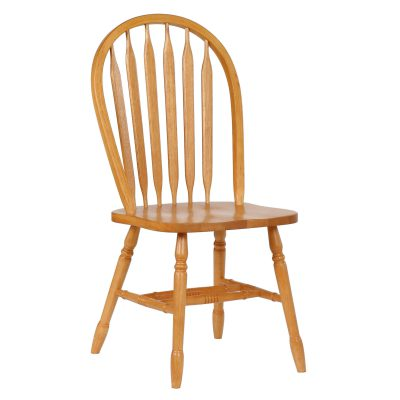 Oak Selections - Arrow-back dining chair - light-oak finish - front view DLU-820-LO-2