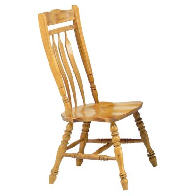 Oak Selections - Aspen dining chair - Light-oak finish - front view DLU-C10-LO-2