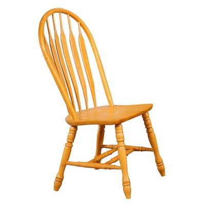 Oak Selections - Comfort back dining chair - light-oak - front view DLU-4130-LO-2