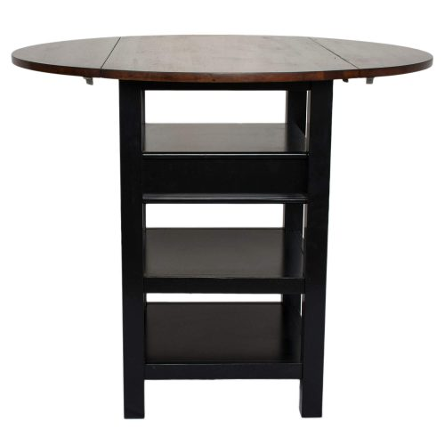 Quincy Pub table with leafs up – Black Cherry CR-A7572-68