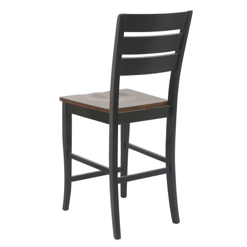 Quincy Stools - 24 inch high in black cherry - back view CR-A7572-24-2.jpg