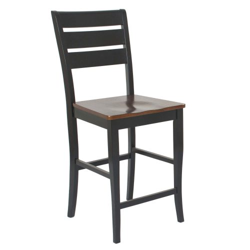 Quincy Stools - 24 inch high in black cherry - front view CR-A7572-24-2