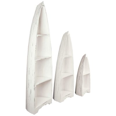 Shabby Chic Collection - 3-piece boat shelves - three-quarter view CC-CAB1920LD-WW