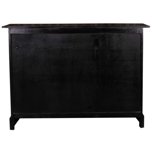 Shabby Chic Collection - 6 Drawer chest with baskets finished in antique black - back view CC-CAB918LD-AB-B