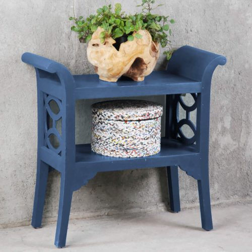 Shabby Chic Collection - Accent - Console table finished in dark blue - room setting CC-TAB1033LD-SD