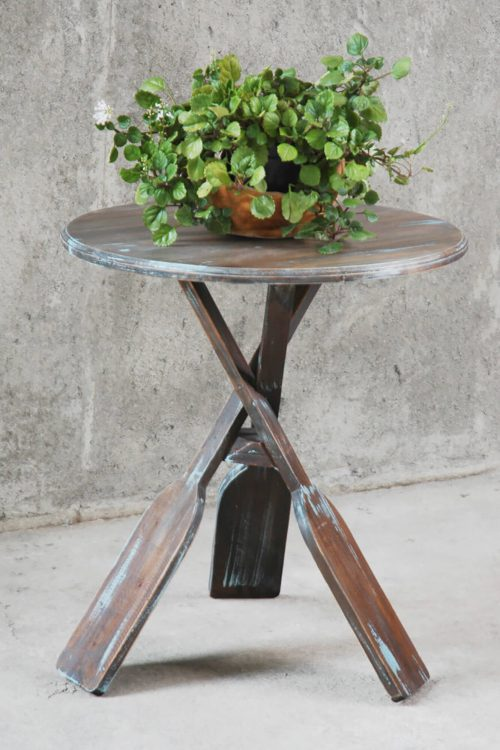 Shabby Chic Collection - Boat oar accent table finished in a brushed blue - room setting CC-TAB813LD-BBR