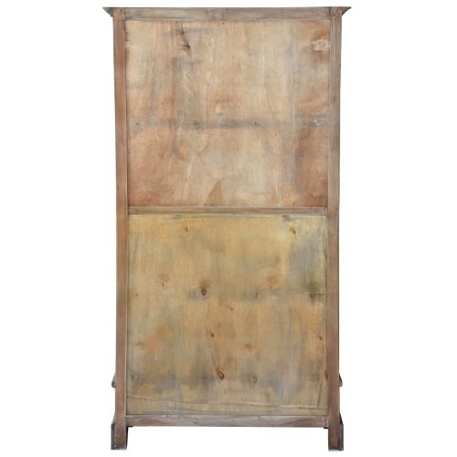 Shabby Chic Collection - Cabinet finished in distressed brown - back view CC-CAB1918S-SV