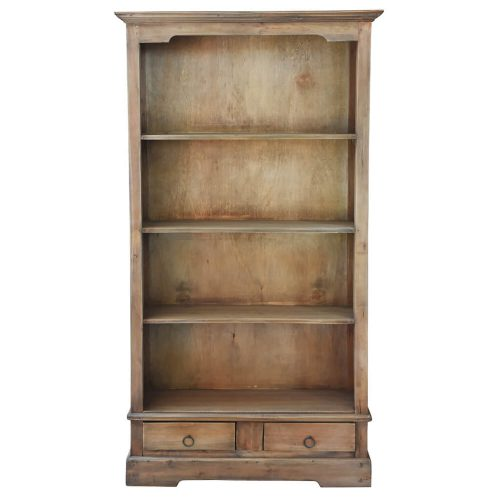 Shabby Chic Collection - Cabinet finished in distressed brown - front view CC-CAB1918S-SV