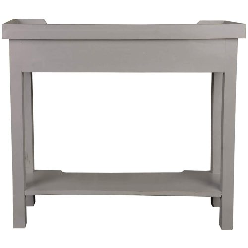 Shabby Chic Collection - Console table with drawers - finished in distressed antique gray - back view CC-TAB2284LD-AG