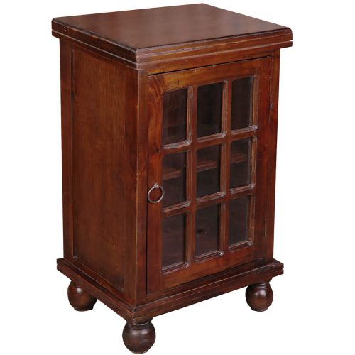 Shabby Chic Collection - End table finished in rich Mahogany - three-quarter view CC-CHE050S-WN