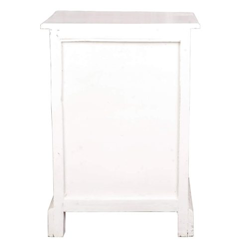 Shabby Chic Collection - Nightstand finished in a whitewash - back view CC-CHE551LD-WW