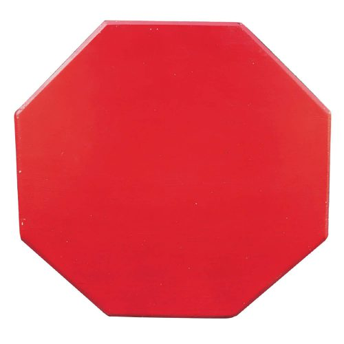 Shabby Chic Collection - Octagon side table finished in antique red - top view CC-TAB500LD-AR