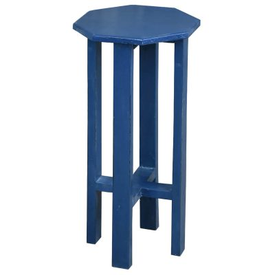 Shabby Chic Collection - Octagon side table finished in antique salty dog blue - three-quarter view CC-TAB500LD-SD