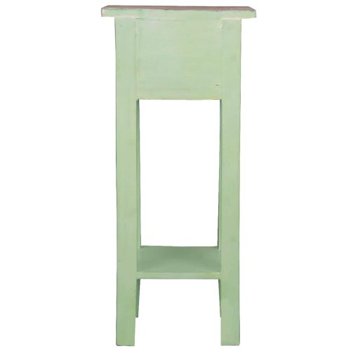 Shabby Chic Collection - Side table finished in Limewash with a Bahama wood top - back view CC-TAB1792TLD-BHLW