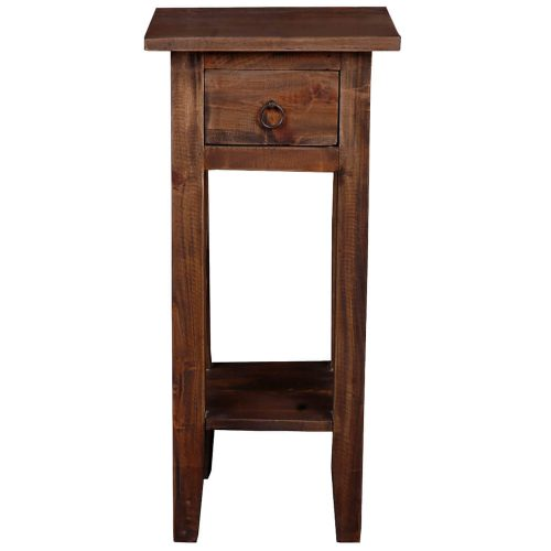 Shabby Chic Collection - Side table finished in a distressed Raftwood - front view CC-TAB1792S-RW