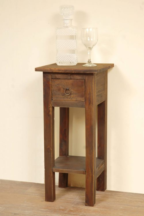 Shabby Chic Collection - Side table finished in a distressed Raftwood - room setting CC-TAB1792S-RW