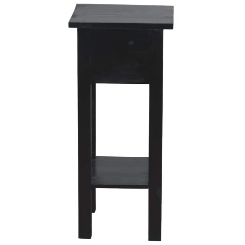Shabby Chic Collection - Side table finished in antique black - back view CC-TAB1792LD-AB