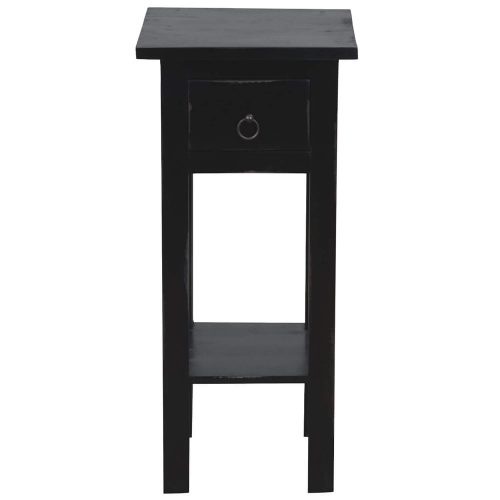 Shabby Chic Collection - Side table finished in antique black - front view CC-TAB1792LD-AB