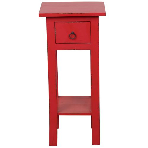Shabby Chic Collection - Side table finished in antique red - front view CC-TAB1792LD-AR