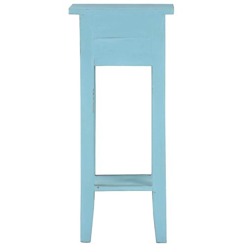 Shabby Chic Collection - Side table finished in distressed beach blue - back view CC-TAB1792LD-BB