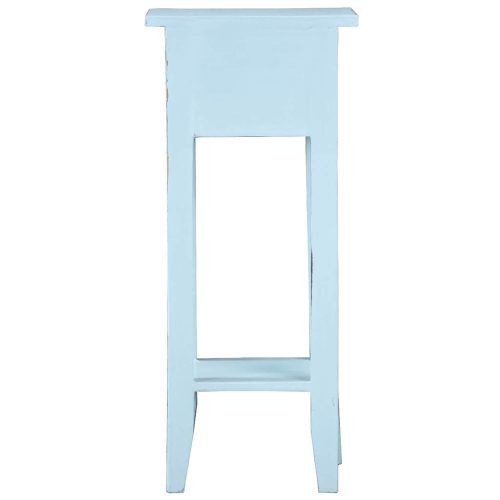 Shabby Chic Collection - Side table finished in distressed sky blue - back view CC-TAB1792LD-SB