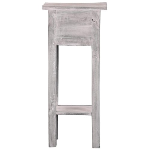 Shabby Chic Collection - Side table finished in stonewall gray - back view CC-TAB1792LD-SW
