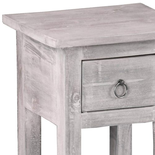 Shabby Chic Collection - Side table finished in stonewall gray - detail of construction CC-TAB1792LD-SW