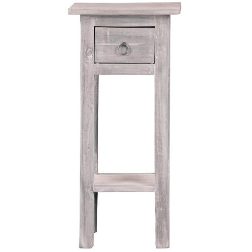 Shabby Chic Collection - Side table finished in stonewall gray - front view CC-TAB1792LD-SW