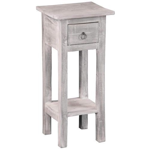 Shabby Chic Collection - Side table finished in stonewall gray - three-quarter view CC-TAB1792LD-SW