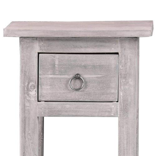 Shabby Chic Collection - Side table finished in stonewall gray - top and drawer detail CC-TAB1792LD-SW