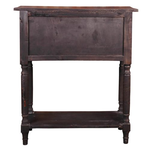 Shabby Chic Collection - Storage table with stacked drawers - back view CC-TAB014TT-BWRW