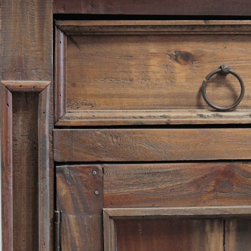 Shabby Chic Collection - Sideboard in distressed Raftwood - Detail of drawer and hardware CC-CAB1113S-RW