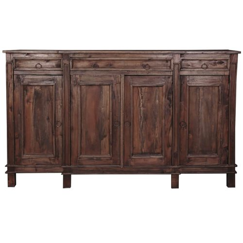 Shabby Chic Collection - Sideboard in distressed Raftwood - Front view CC-CAB1113S-RW