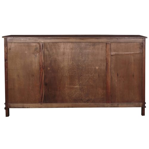 Shabby Chic Collection - Sideboard in distressed Raftwood - back view CC-CAB1113S-RW