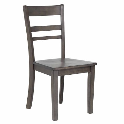 Shades of Gray - Slat back dining chair front view DLU-EL-C200-2