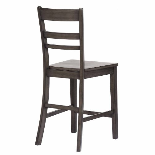 Shades of Gray - Slat back stool back view DLU-EL-B200-2