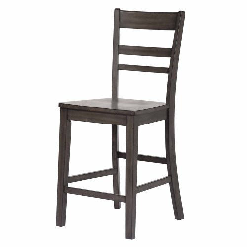 Shades of Gray - Slat back stool front view DLU-EL-B200-2