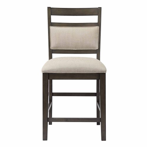 Shades of Gray - Upholstered Barstool - front view DLU-EL-B90-2