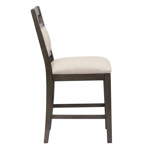 Shades of Gray - Upholstered Barstool - side view DLU-EL-B90-2