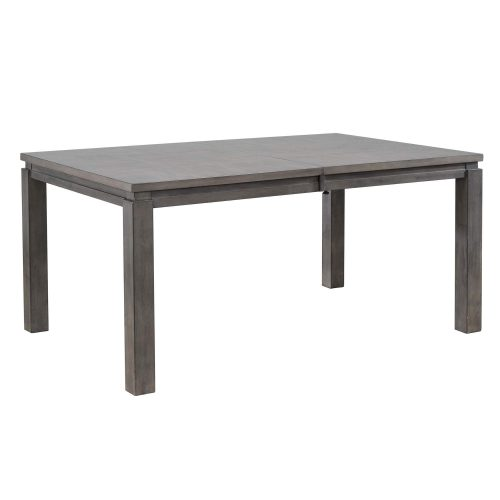 Shades of Gray - extendable dining table without butterfly leaf - three-quarter view DLU-EL9282