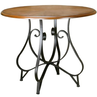 Vail counter height dining table Distressed medium Oak finish CR-W2597-64-TB